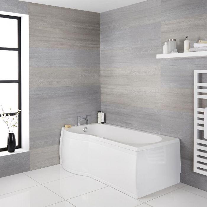P-förmige Badewanne für die linke Ecke 1500mm - inkl. Paneele