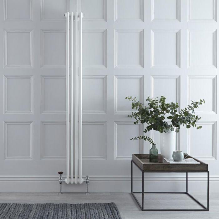 Gliederheizkörper Vertikal 2 Säulen Nostalgie Weiß 1800mm x 200mm 622W - Regent
