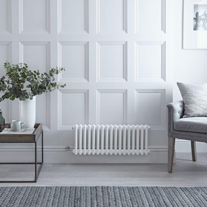 Gliederheizkörper Regent Elektrisch Nostalgie Weiß 2 Säulen 300mm x 785mm inkl. 400W Heizstab
