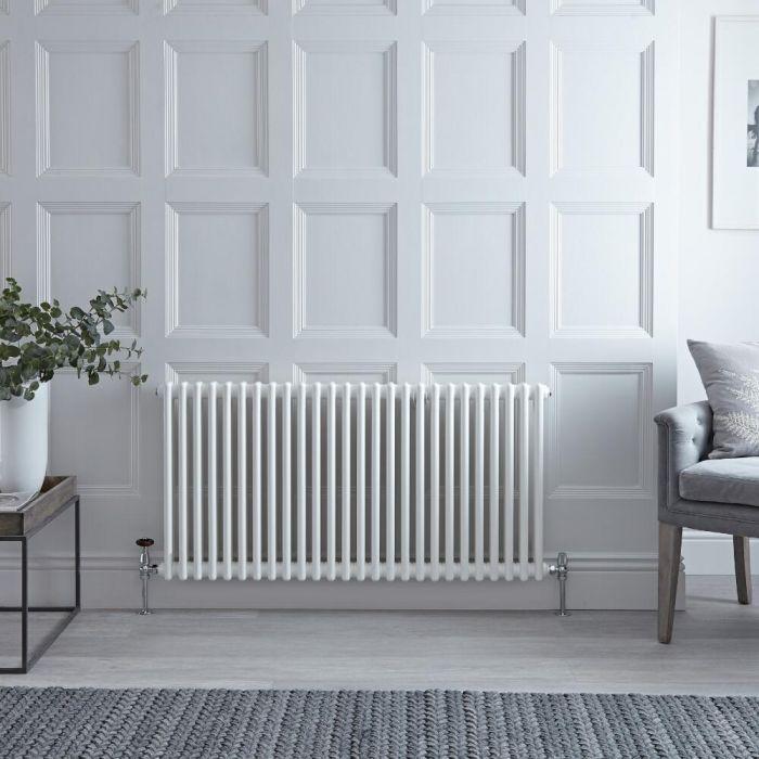Gliederheizkörper Horizontal 2 Säulen Nostalgie Weiß 600mm x 1190mm 1476W - Regent
