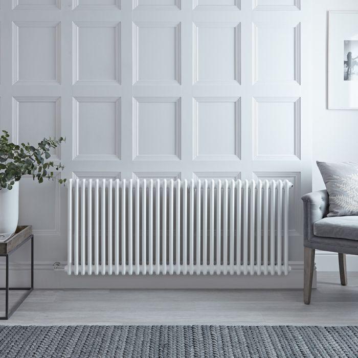 Gliederheizkörper Regent Elektrisch Nostalgie Weiß 2 Säulen 600mm x 1505mm inkl. 1500W Heizstab