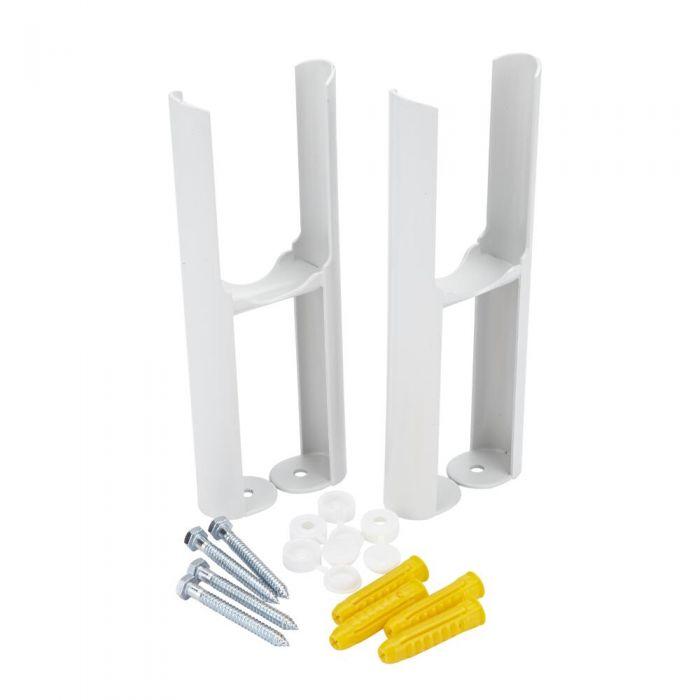 Bodenmontagefüße für weiße Gliederheizkörper Regent mit 2-Säulen