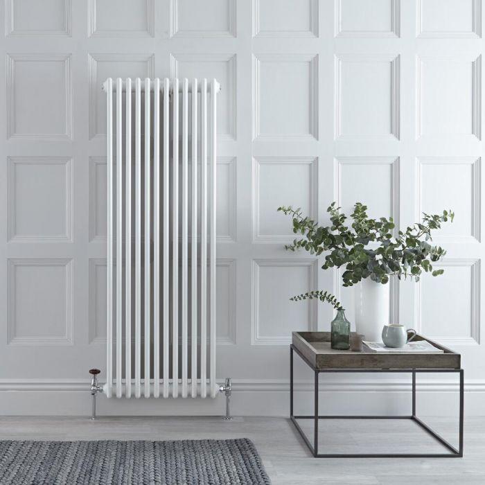 Gliederheizkörper Vertikal 3 Säulen Nostalgie Weiß 1500mm x 560mm 2081W - Regent