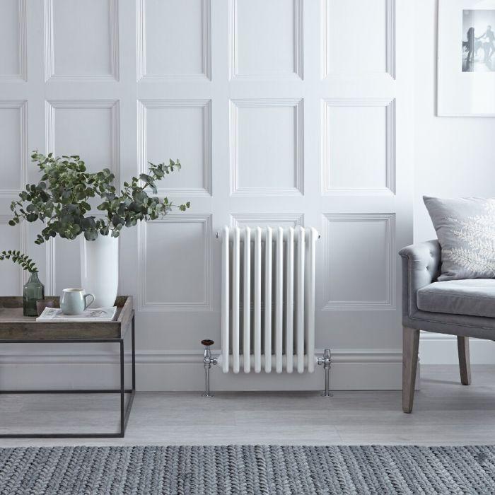 4-Säulen Gliederheizkörper Horizontal Weiß 600mm x 425mm 854W - Regent