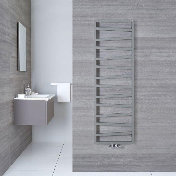 Handtuchheizkörper Vertikal Mittelanschluss Silber 1545mm x 500mm - Torun