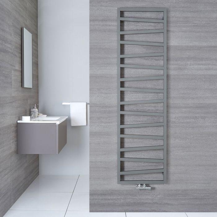 Handtuchheizkörper Vertikal Mittelanschluss Silber 1780mm x 500mm - Torun