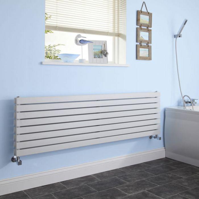 Design Heizkörper Horizontal Doppellagig Weiß 472mm x 1600mm 1577W - Sloane