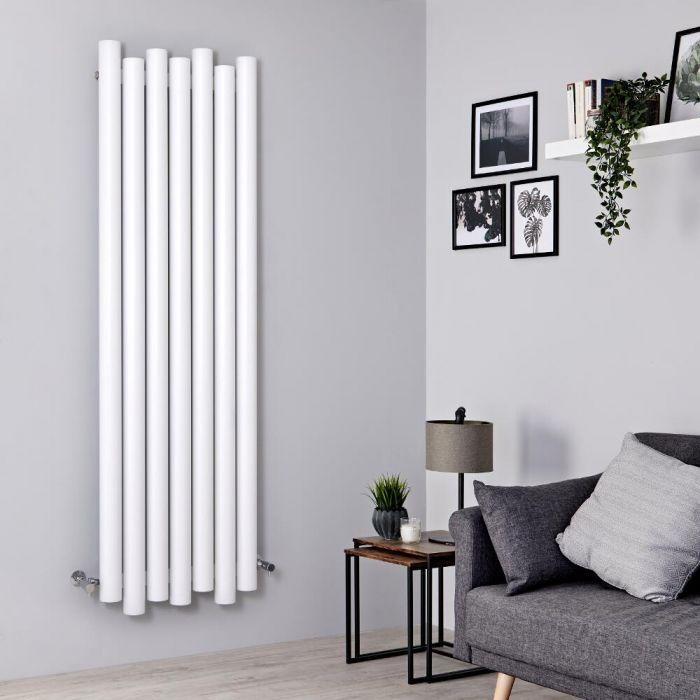 Designer Heizkörper Weiß Vertikal 1800mm x 550mm 1638W - Laeto
