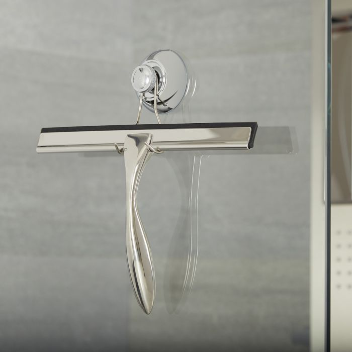 Duschwandwischer Chrom mit Saugnapf