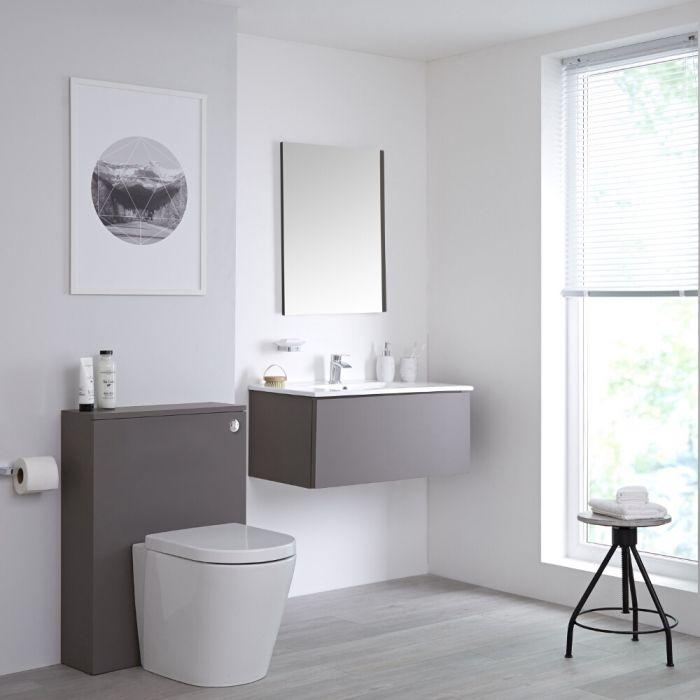 Newington - Waschtisch mit Unterschrank 800mm & WC mit Vorwandelement - Mattgrau