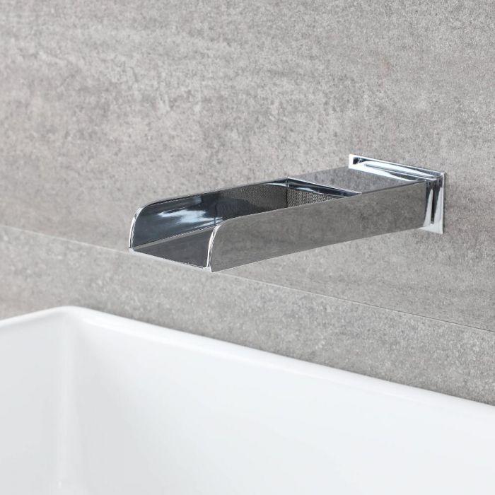 Parade Wasserfall Wand-Einlauf für Waschbecken & Wannen, Chrom, 1/2 Zoll