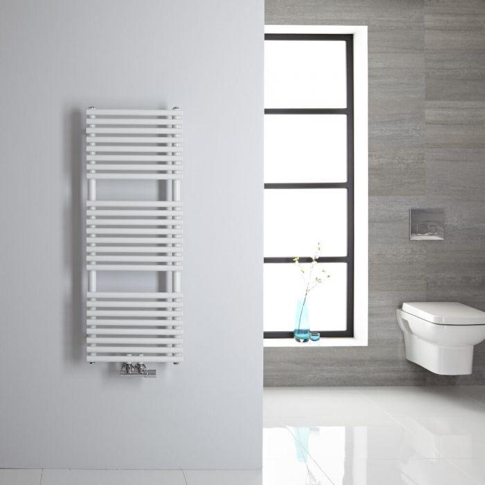 Handtuchheizkörper Mittelanschluss Vertikal Weiß 333 Watt 1065mm x 400mm - Magera