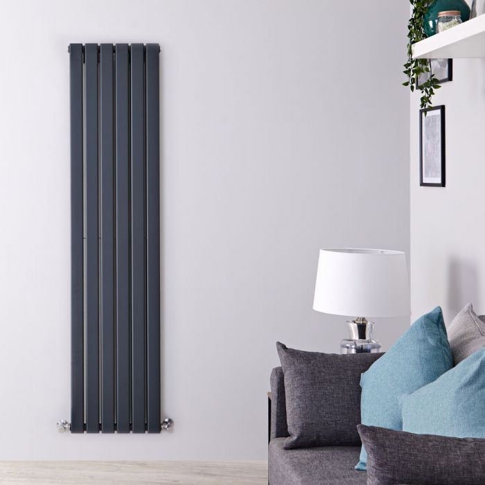 Vertikaler Design Heizkörper, Anthrazit, Größe wählbar - Delta