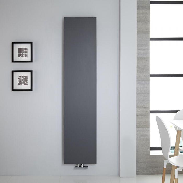 Design Flachheizkörper Vertikal Anthrazit 1800mm x 400mm 842W - Rubi
