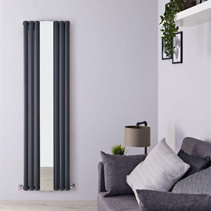 Design Heizkörper Vertikal Doppellagig Anthrazit 1800mm x 499mm 1613W - Revive