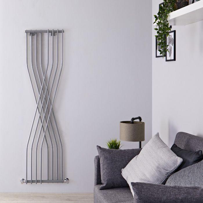 Design Heizkörper Vertikal Einlagig Silber 1775mm x 450mm 925W - Xcite