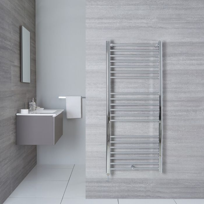 Elektrischer Badheizkörper Gerade Chrom 1400mm x 500mm - Eco inkl. 400W Heizstab