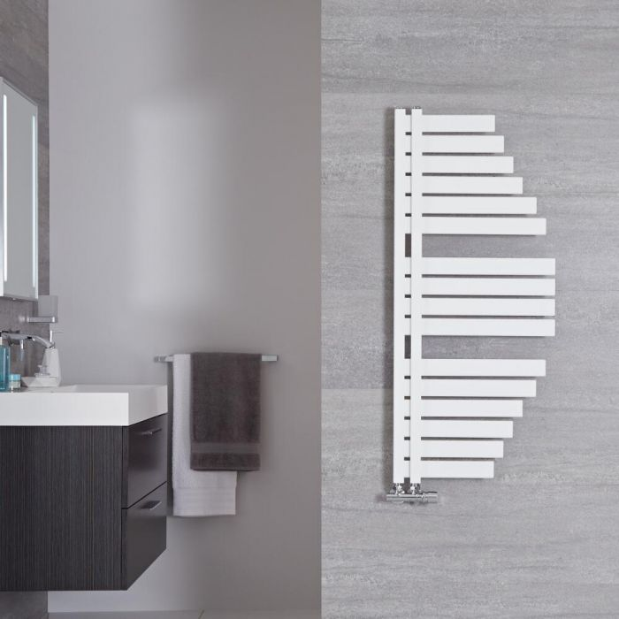 Handtuchheizkörper Mineral Weiß 301W 1100mm x 483mm - Lazio