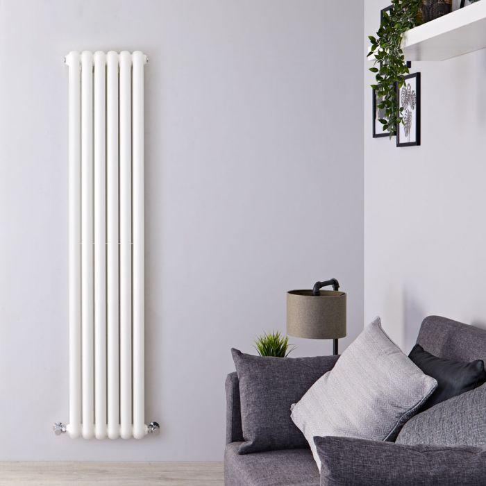 Gliederheizkörper Vertikal 2 Säulen Nostalgie Weiß 1800mm x 383mm 1489W - Salvia