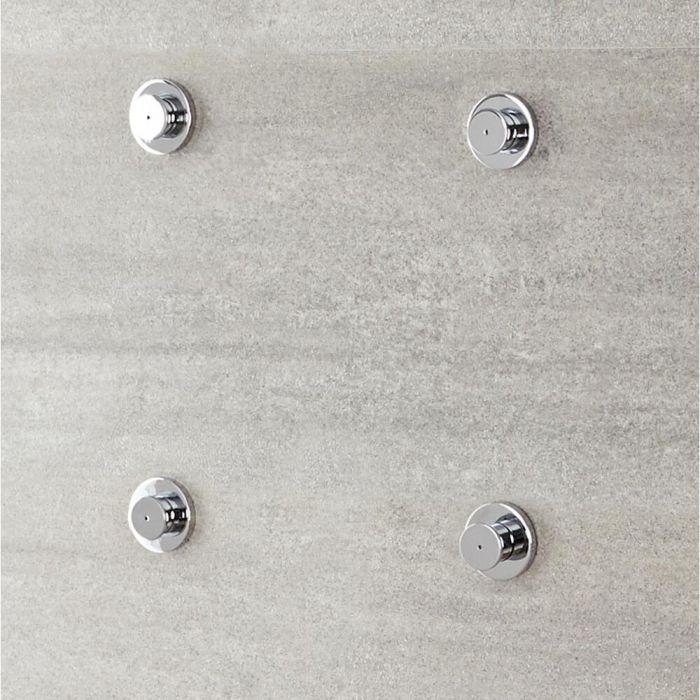 Körperdüse für Duschen mit Nebeleffekt (4 Stk.)