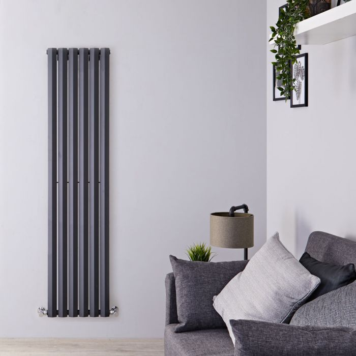 Design Heizkörper Vertikal Einlagig Anthrazit 1780mm x 420mm 1050W - Vital