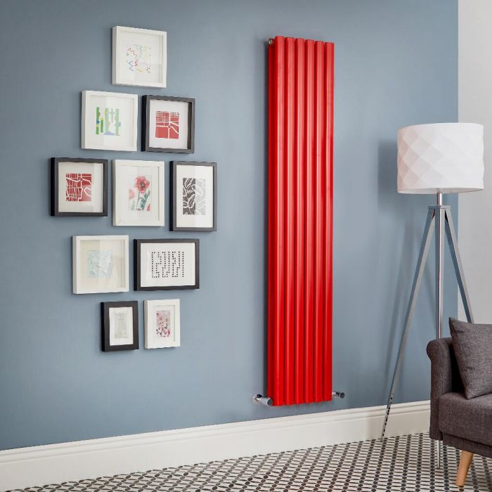 Design Heizkörper Vertikal Doppellagig Rot Revive - Größe wählbar