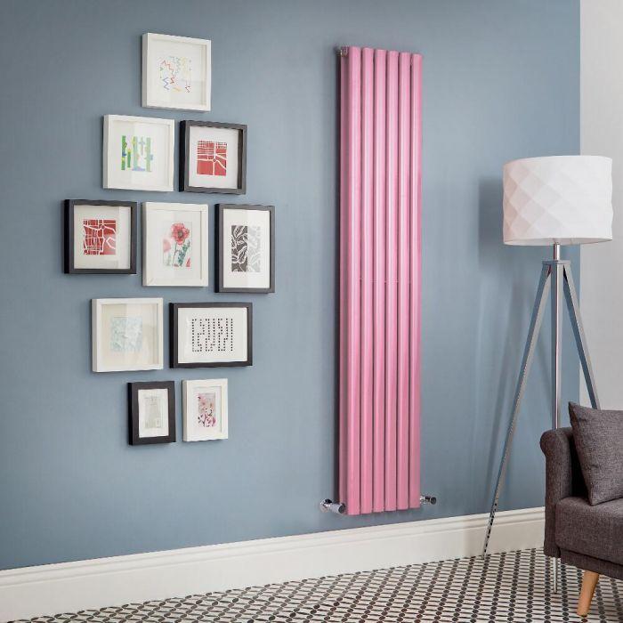 Design Heizkörper Vertikal Doppellagig Rosa Revive -  Größe wählbar