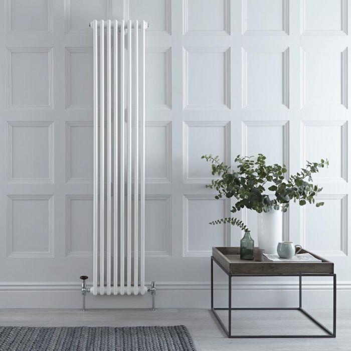 Gliederheizkörper Vertikal 2 Säulen Nostalgie Weiß 1800mm x 380mm 1245W - Regent