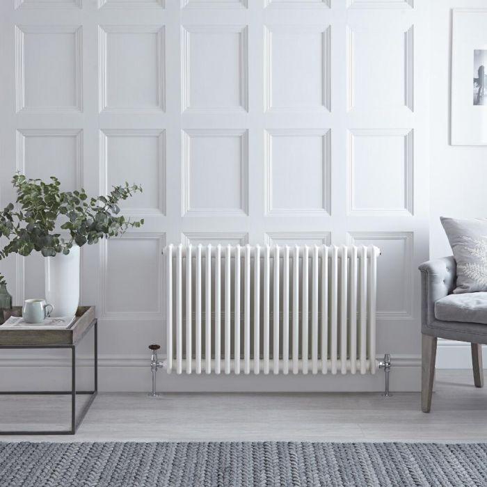 Gliederheizkörper Horizontal 3 Säulen Nostalgie Weiß 600mm x 1010mm 1608W - Regent