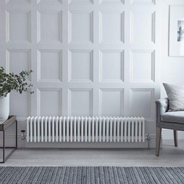 Gliederheizkörper Horizontal 4 Säulen Nostalgie Weiß 300mm x 1505mm 1793W - Regent