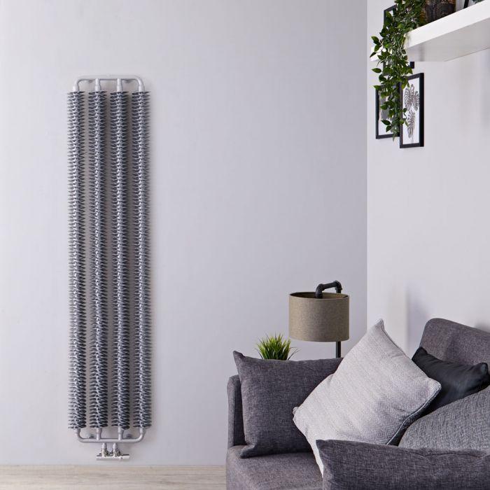Design Heizkörper Vertikal Einlagig Silber Matt 1720mm x 390mm - Tatra
