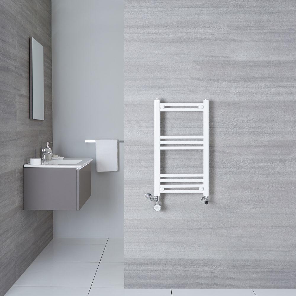Handtuchheizkörper Mischbetrieb Weiß 700mm x 400mm 280W - Etna