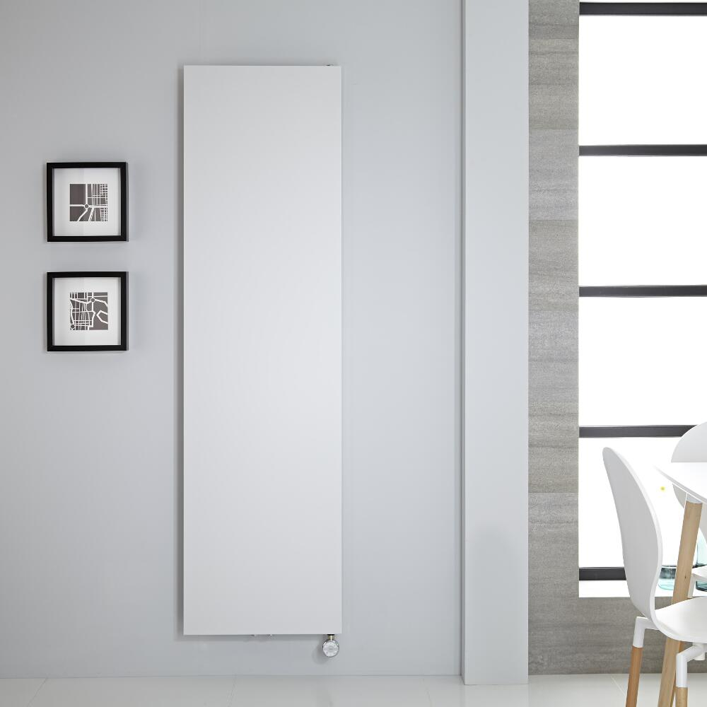 Design Flachheizkörper Elektrisch Vertikal Weiß 1800mm x 500mm - Rubi inkl. 1000W Heizelement