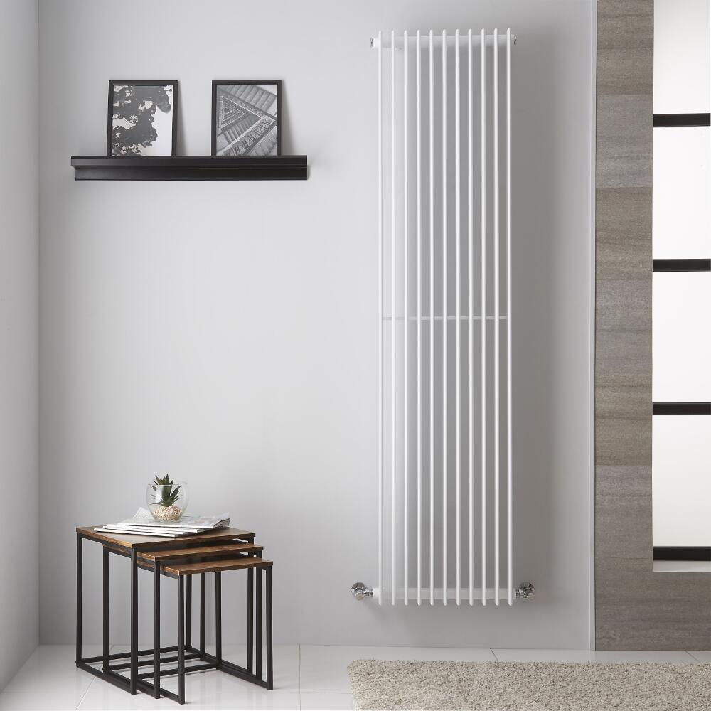 Design Heizkörper Weiß 1428W 1800mm x 445mm - Roma