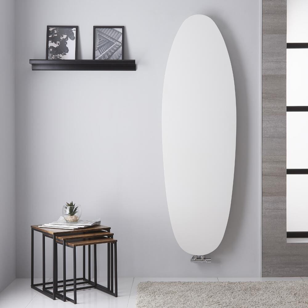 Design Heizkörper MIttelanschluss Vertikal Mineral Weiß 1728mm x 535mm 896W - Sovana