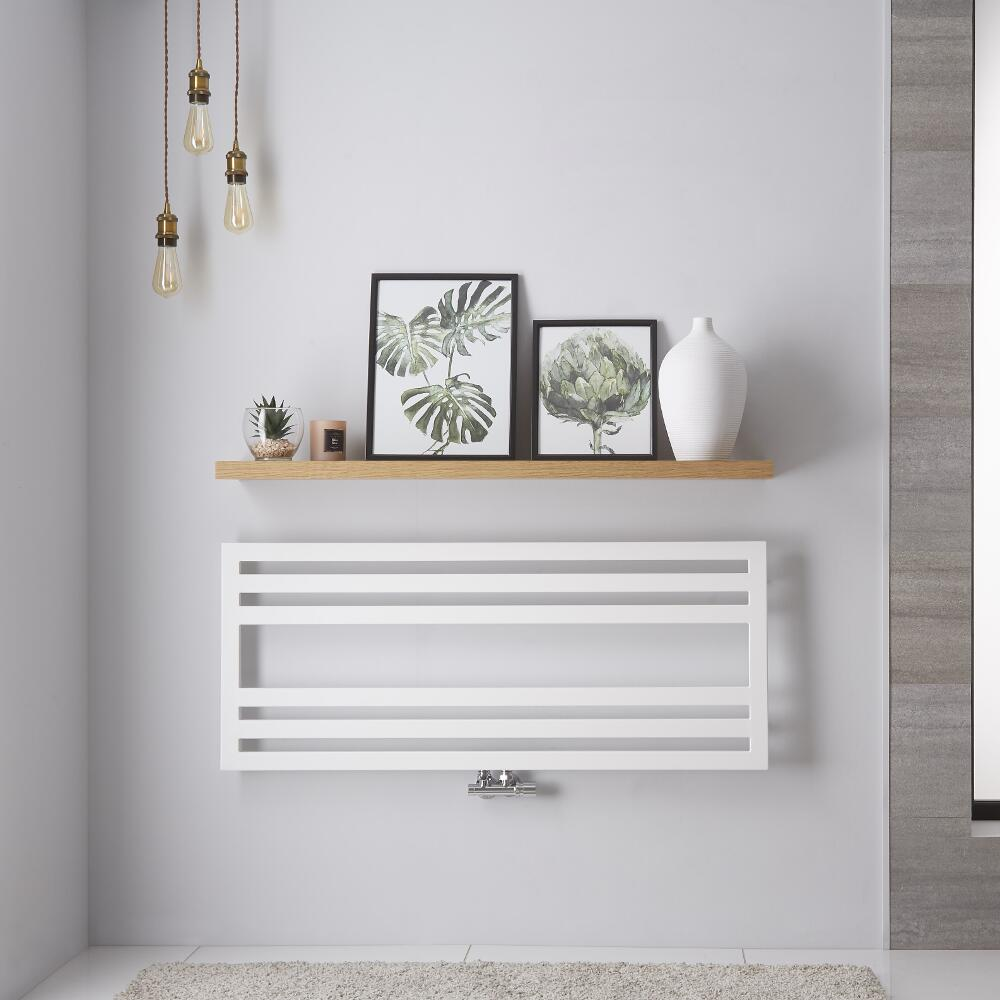 Handtuchheizkörper Weiß 582W 500mm x 1200mm - Ponza