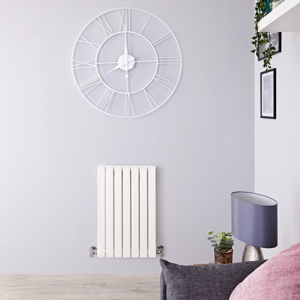 Design Heizkörper Horizontal Einlagig Weiß 635mm x 420mm 421W - Sloane