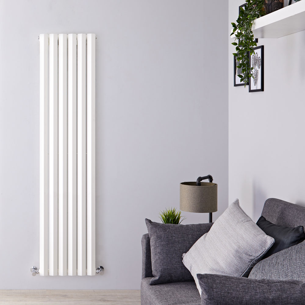 Design Heizkörper Vertikal Einlagig Weiß 1600mm x 420mm 946W - Vital