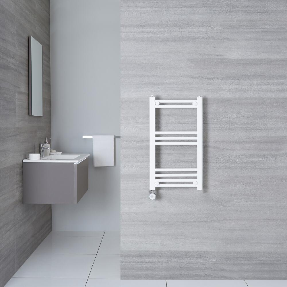 Elektrischer Handtuchheizkörper Weiß 700mm x 400mm inkl. ein 400W Heizelement - Etna