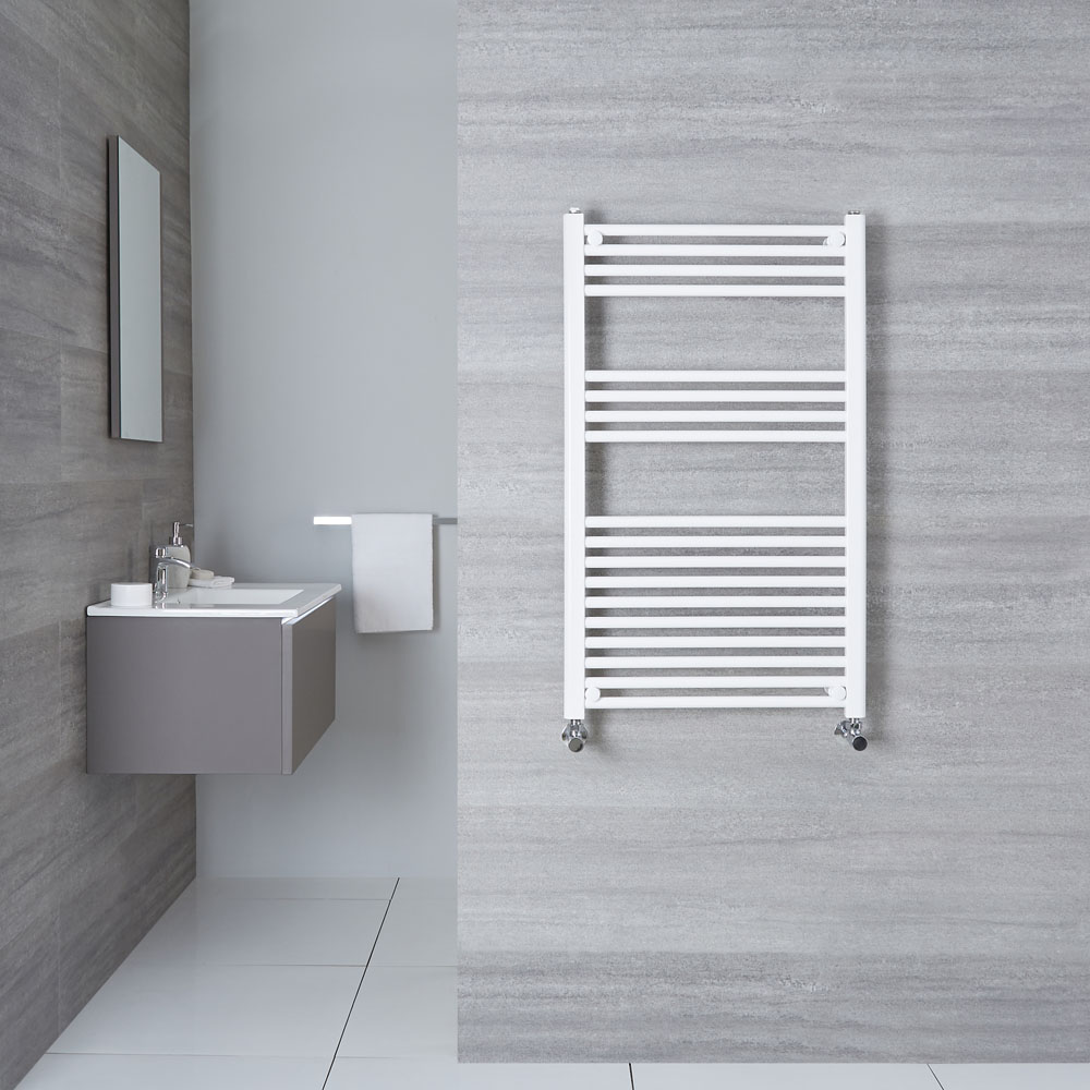 Handtuchheizkörper Weiß 1000mm x 600mm 614W - Etna