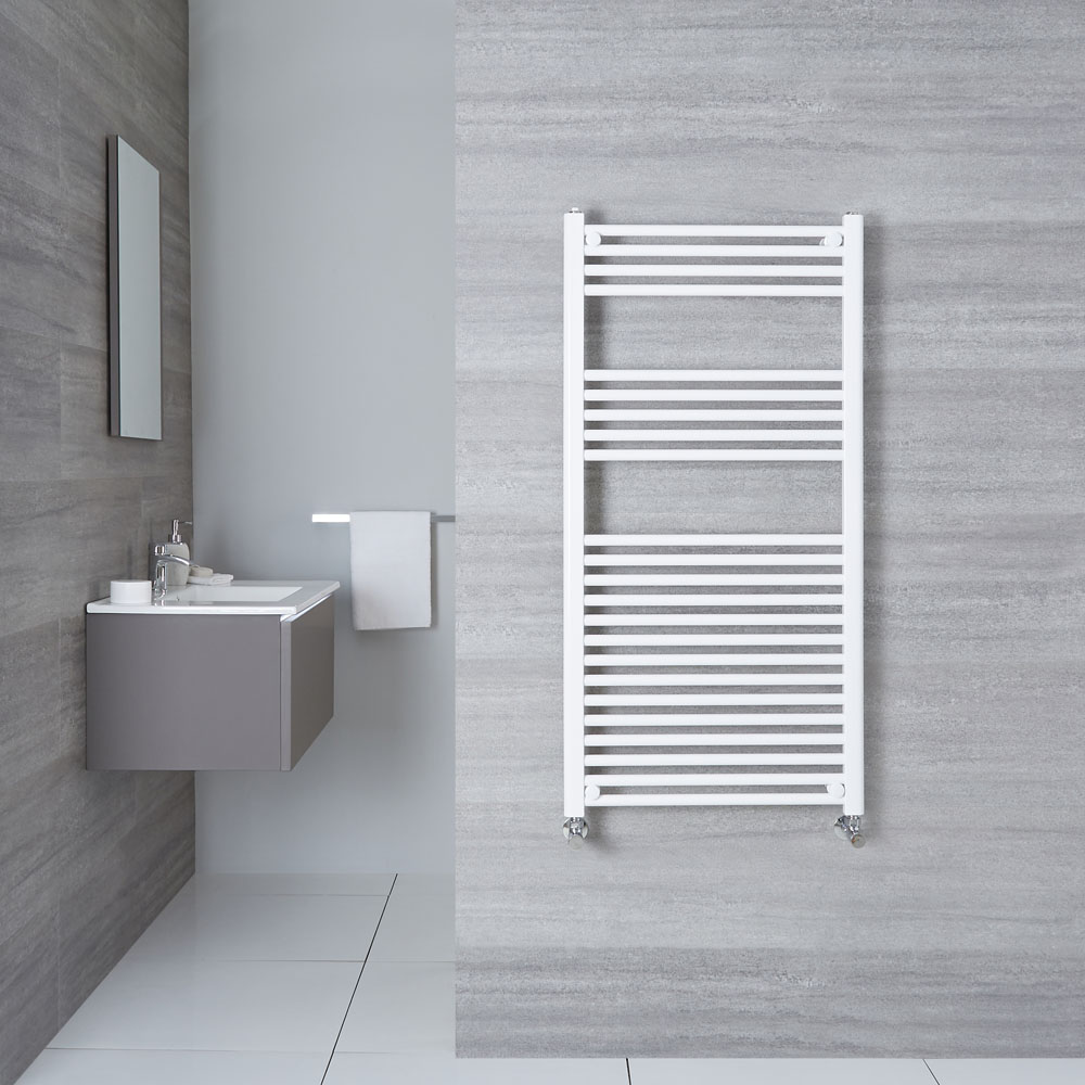 Handtuchheizkörper Weiß 1200mm x 600mm 755W - Etna