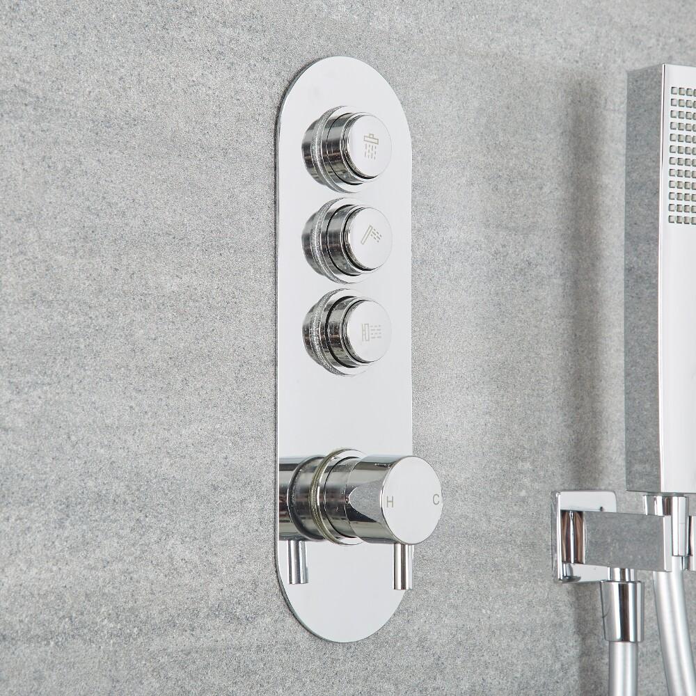 Drucktasten Duscharmatur 3 Funktionen Rund - Idro