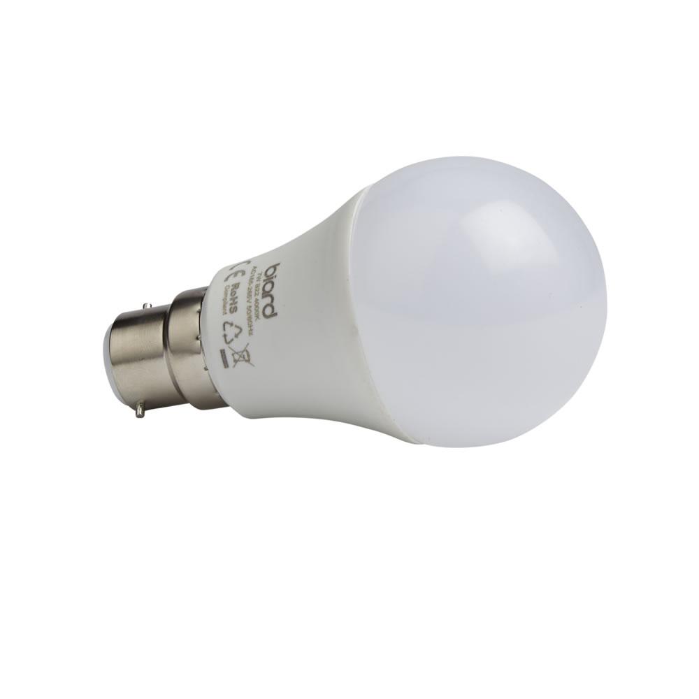 Biard 6x 7W LED Birnen mit B22 Fassung