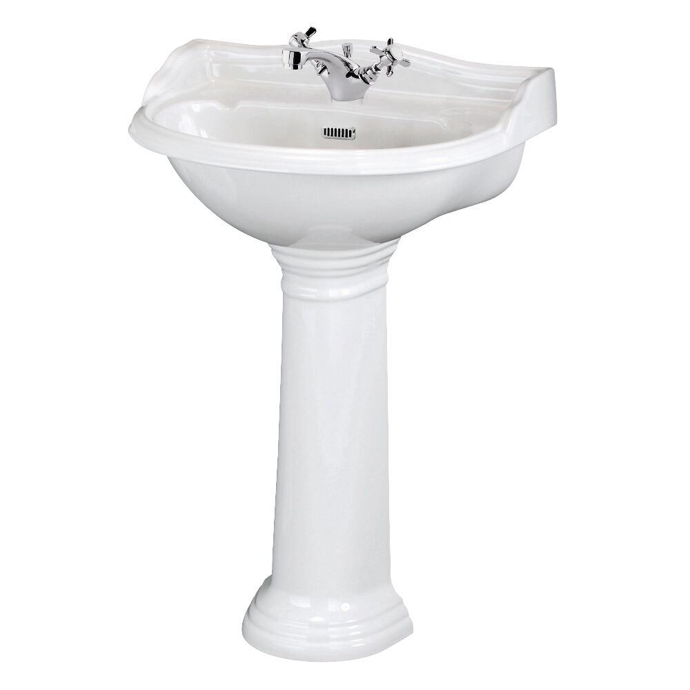 Standwaschbecken mit Spritzschutz - Ryther - 1-Loch