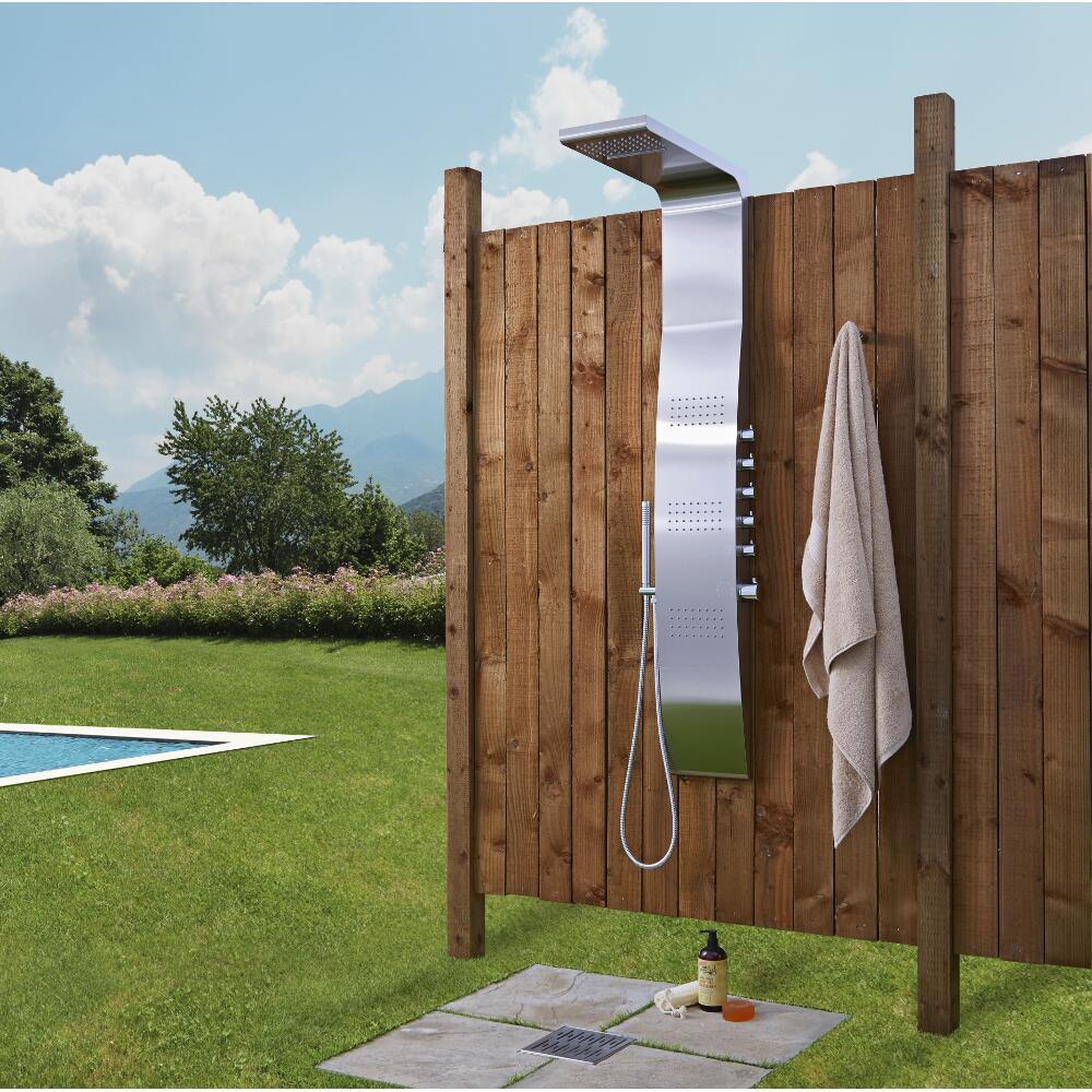 Thermostatisches Duschpaneel für den Außenbereich Edelstahl - Surface