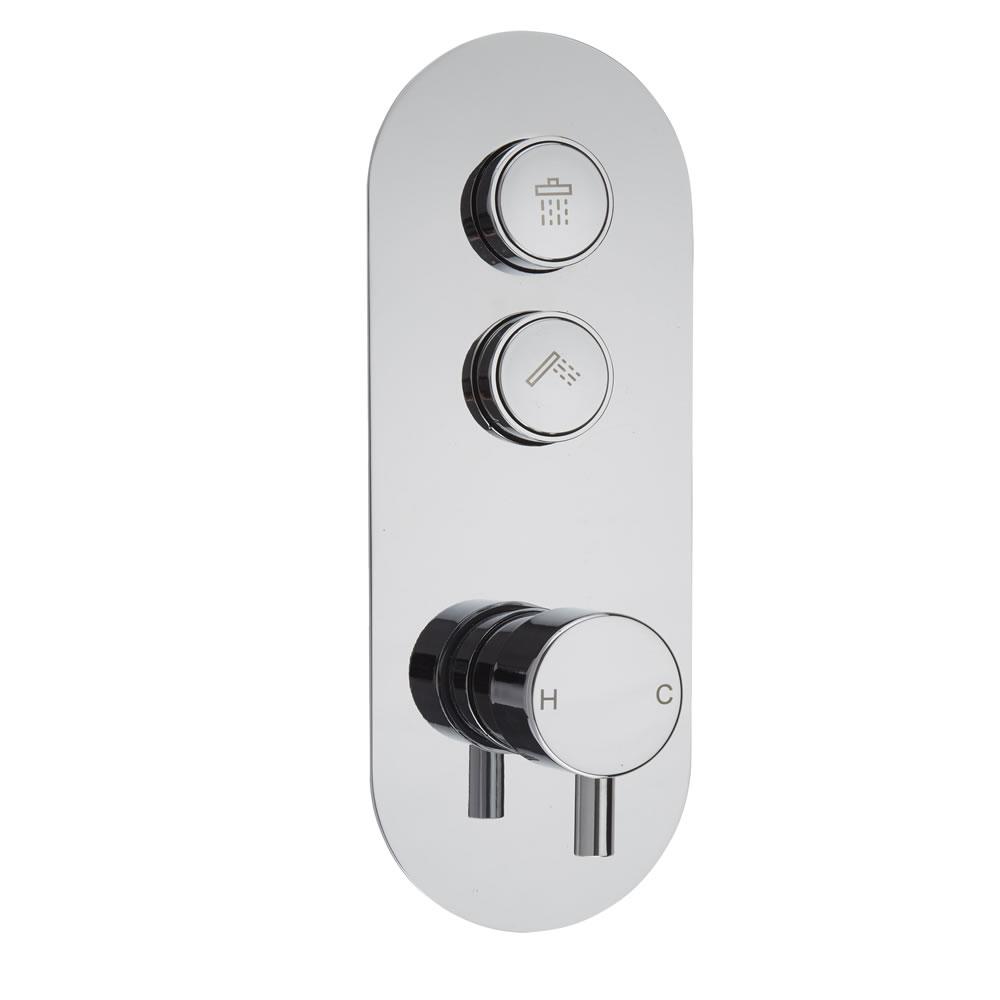 Drucktasten Duscharmatur 2 Funktionen Rund - Idro