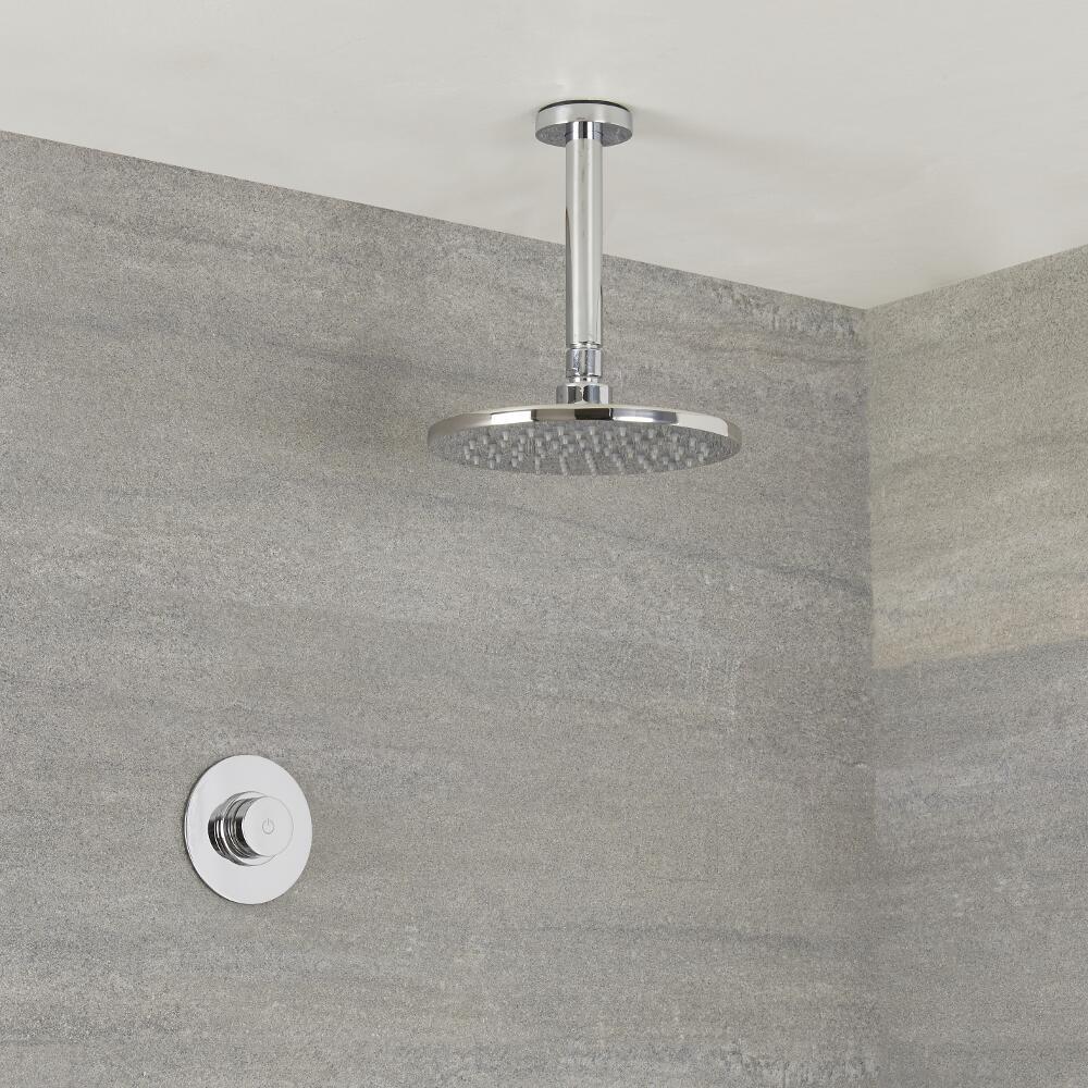 Digitale Dusche für eine Funktion, inkl. rundem 200mm Duschkopf zur Deckenmontage
