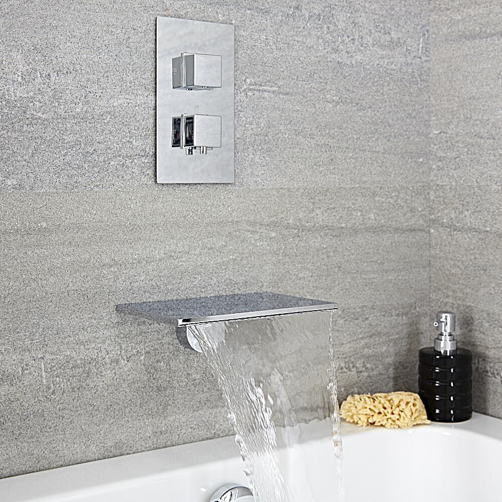 Badewannenarmatur mit Wasserfallauslauf - Arvo