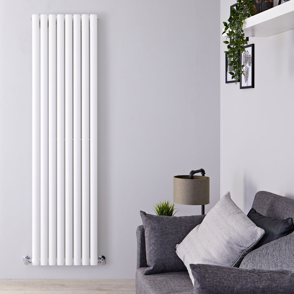 Design Heizkörper Vertikal Einlagig Weiß 1780mm x 472mm 1190W - Revive