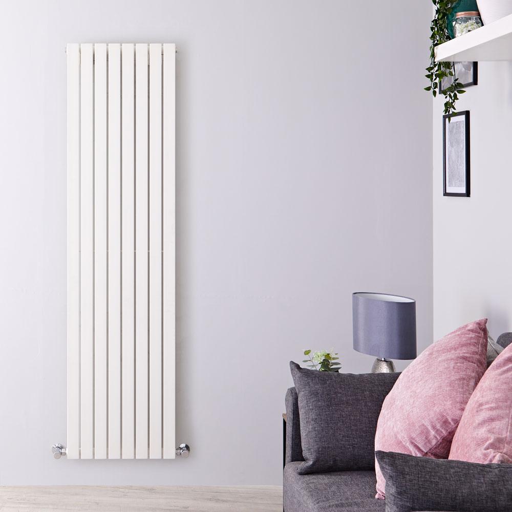 Design Heizkörper Vertikal Einlagig Weiß 1780mm x 472mm 1196W - Sloane